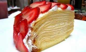 Блинный торт с клубникой рецепт