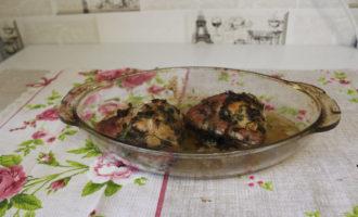Куриные бедрышки с чесноком в духовке 4