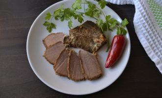 Говядина маринованная в горчице в духовке фото