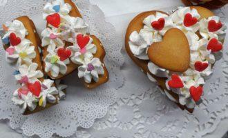 Имбирные печенья с кремом фото