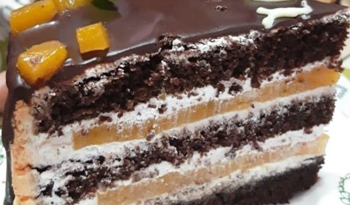 Фруктово шоколадный десерт фото