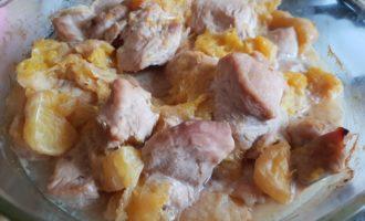 Мясо с апельсинами в духовке фото