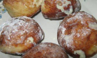 Пончики с заварным кремом фото 10