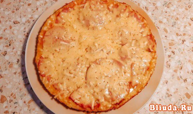 Пицца на сковороде со сметаной и майонезом фото