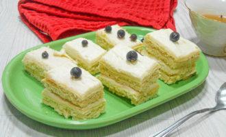 бисквитные пирожные рецепт с фото - фотография