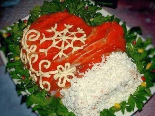 салат варежка деда мороза рецепт