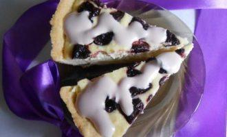 Творожный пирог с вишней рецепт в духовке