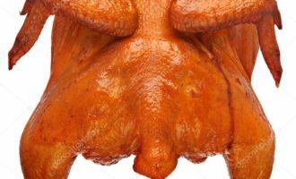 Копчёная курица в коптильне фото