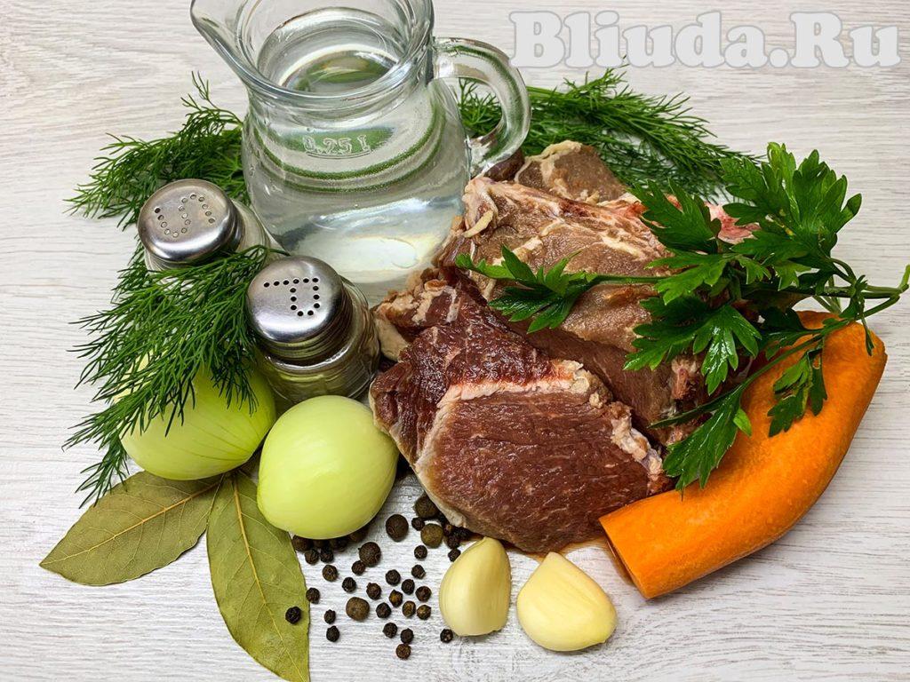 Холодец из свинины с желатином ингредиенты