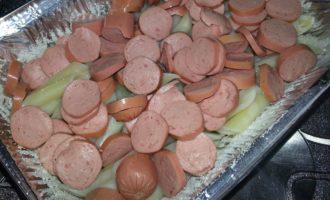 Макаронная запеканка с сосисками в духовке фото 3