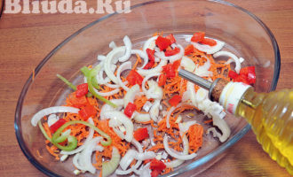 Cтейк синей зубатки с овощами в духовке фото 5