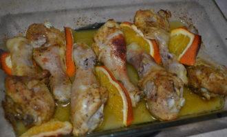 куриные ножки с апельсинами в духовке фото 8