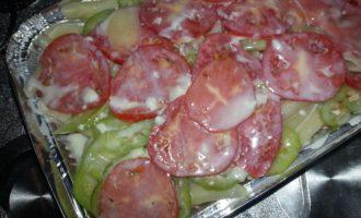 Макаронная запеканка с сосисками в духовке фото 7