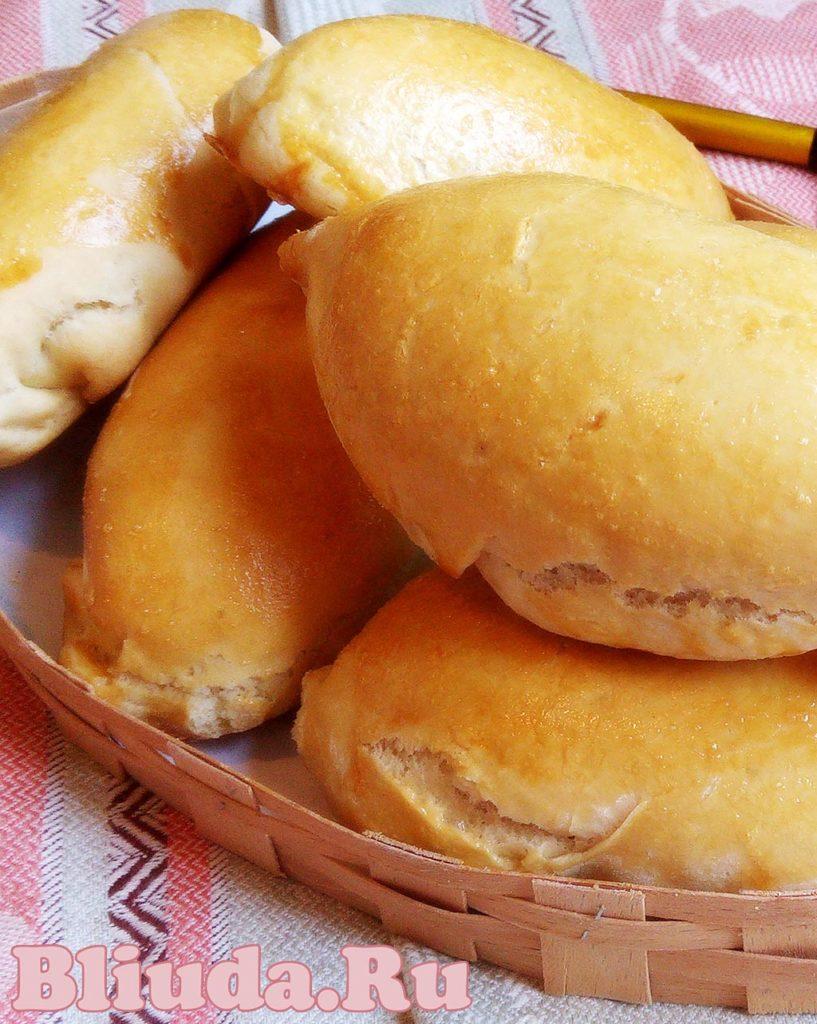 Пирожки с мясом в духовке фотография