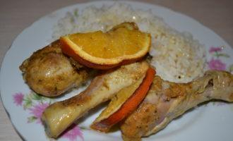 Куриные ножки с апельсинами в духовке фото