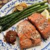 запеченный лосось с салатом фото