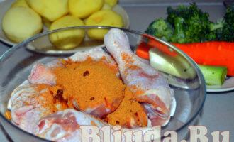 Курица с овощами в рукаве фото 3