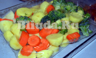 Курица с овощами в рукаве фото 4