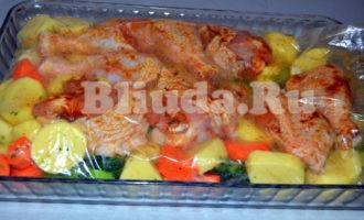 Курица с овощами в рукаве фото 5