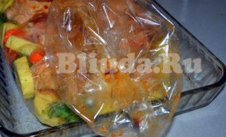 Курица с овощами в рукаве фото 6