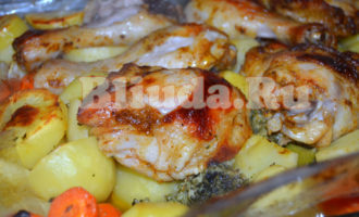 Курица с овощами в рукаве фото 8