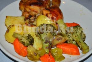 Курица с овощами в рукаве фото 9