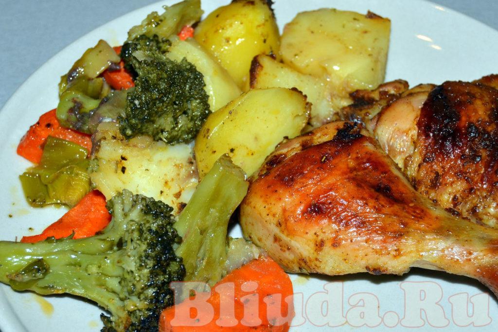 Курица с овощами в рукаве фото 10